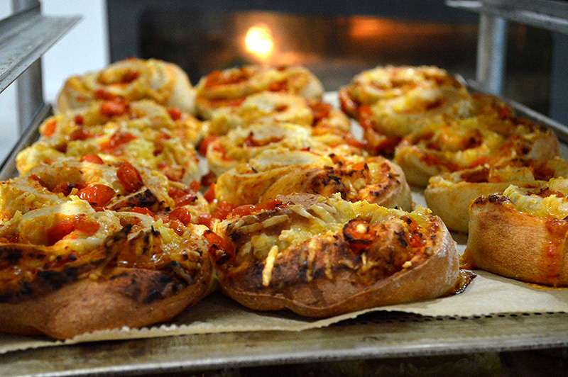 Savouries out of oven