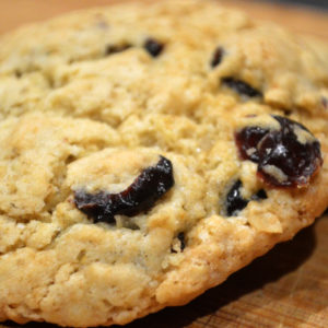Cranberry and orange cookies